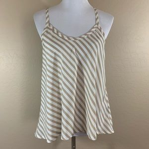 Poetry Stripped Tank Top Blouse